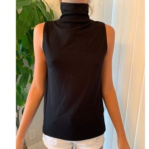 CLUB MONACO black turtleneck tank top shirt